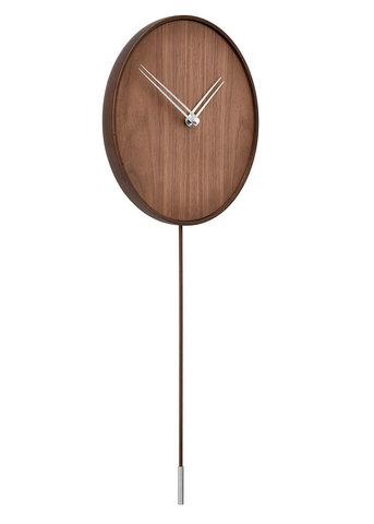 Настенные часы Swing i орех-сталь