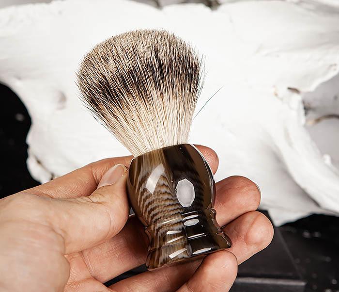 RAZ487 Помазок для бритья из барсучего волоса (Silvertip) фото 08