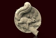Силиконовый молд  Белка   (медальон)  № 0479