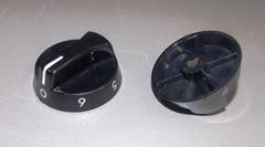 Ручка переключения мощности конфорки, черная, с цифрами 0-6