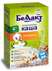 Каша сухая безмолочная гречневая с 4-х месяцев 200г. Беллакт - купить с доставкой по Москве и всей России