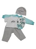Костюм с курткой бомбером - Мята. Одежда для кукол, пупсов и мягких игрушек.