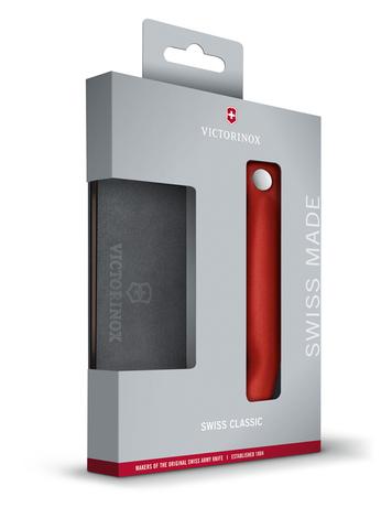 Набор VICTORINOX Swiss Classic с разделочной доской красная рукоять 6.7191.F1