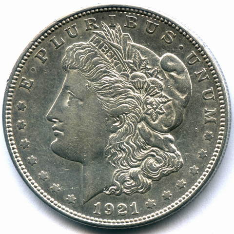 1 доллар 1921. (D) США (Морган) XF
