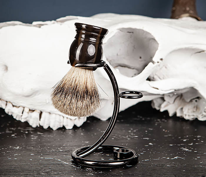RAZ487 Помазок для бритья из барсучего волоса (Silvertip) фото 09