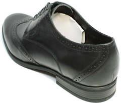 Мужские туфли из натуральной кожи классика Ikos 1157-1 Classic Black.