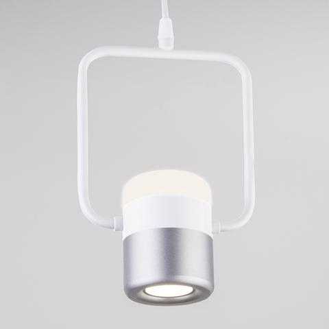 Подвесной светодиодный светильник 50165/1 LED белый/серебро