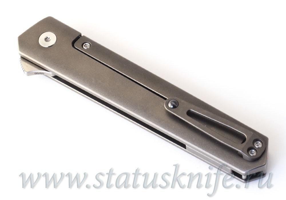Нож Boker Plus 01BO224 Kwaiken Flipper Red Marble Carbon - фотография
