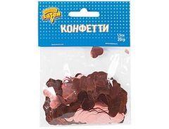 Конфетти Сердца фольг роз золото 1,5 см, 20г, 1 уп.