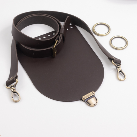 "Комплект для сумочки Орео ""Темно-коричневый"" бронза  N1"