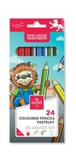 Карандаши цветные LION 3554, 24 цвета