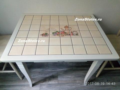 Стол кухонный с керамической плиткой