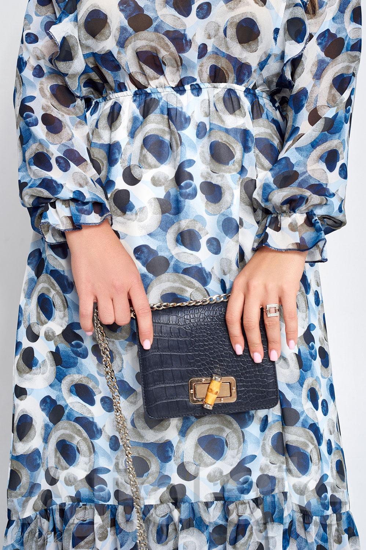 Шифоновое платье макси с отрезной талией