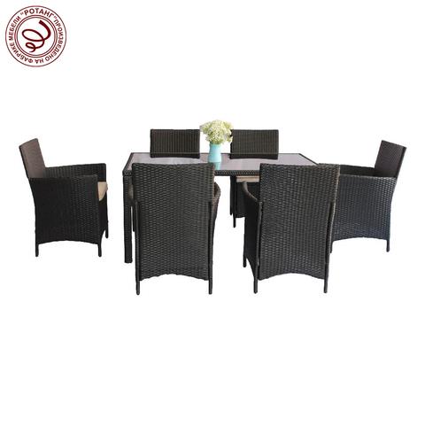 Комплект обеденный HELSINKI Weaving (стол + 6 кресел)