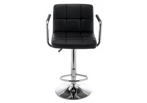 Барный стул Turit черный 54*54*89 Хромированный металл /Черный