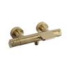 Смеситель термостатический для ванны с каскадным изливом ALEXIA 363901SOC золотой - фото №1
