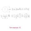 Размеры эвакуационного светодиодного светильника серии SLIMSPOT – тип корпуса E (для автономных на суперконденсаторах)