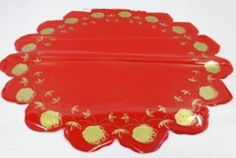 Салфетка Розочка (d=60см, упак.= 50 шт.) Цвет: красный