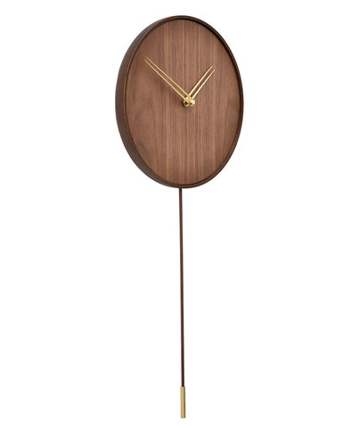 Настенные часы Swing G орех-латунь