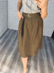 юбка миди цвета хаки nadya
