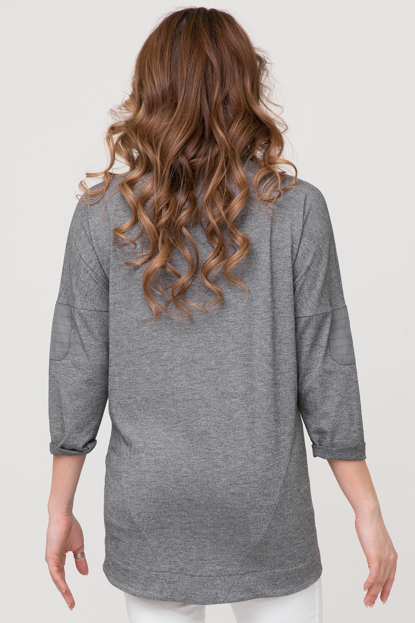 Джемпер для беременных 08323 серый меланж