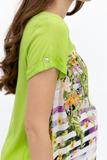 Блузка для беременных 07437 зеленый