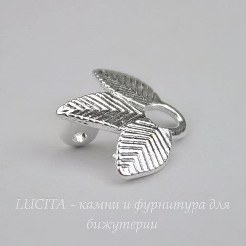 "Коннектор ""Трилистник"" (1-1) 14х13 мм (цвет - серебро)"