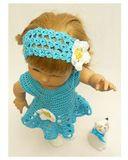 Вязаный сарафан и полоска - На кукле. Одежда для кукол, пупсов и мягких игрушек.