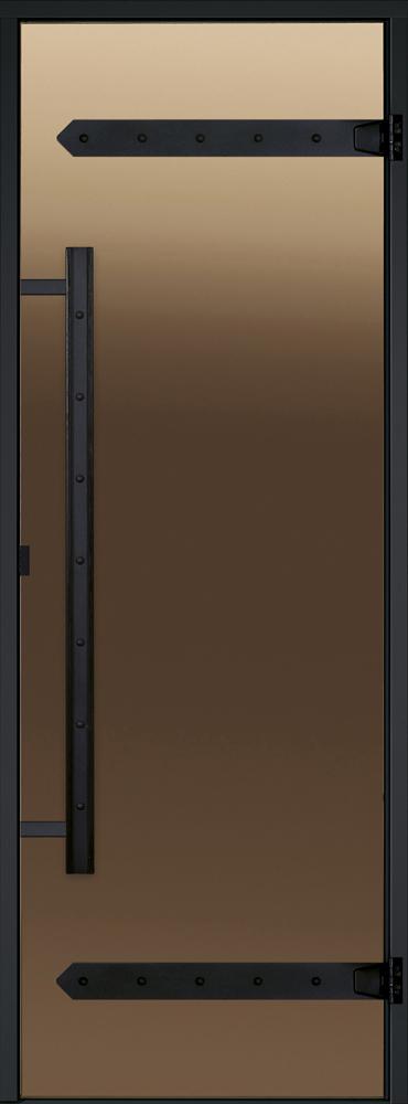 Дверь Harvia Legend STG 8×19 коробка сосна, стекло бронза, фото 1