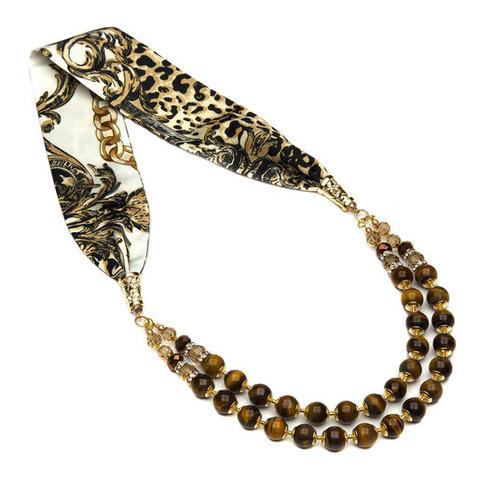 Ожерелье с тигровым глазом