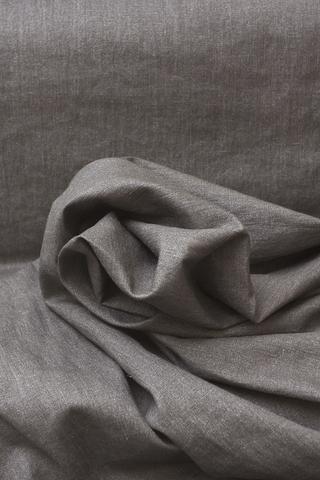 Лён фактурный,смягченный с металлическим напылением цвет МОККО
