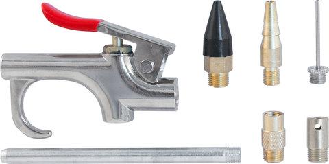ABGK7 Пистолет продувочный с насадками в наборе, 7 предметов