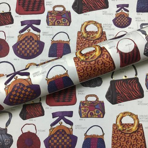 Бумага декоративная подарочная Женские сумочки