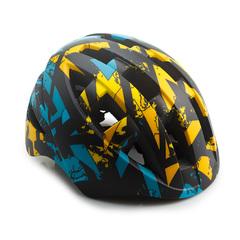 Шлем велосипедный детский Cigna WT-022 (жёлтый/бирюзовый/чёрный)