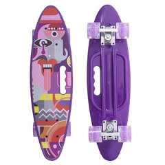 Скейтборд Граффити со светящимися колесами фиолетовый