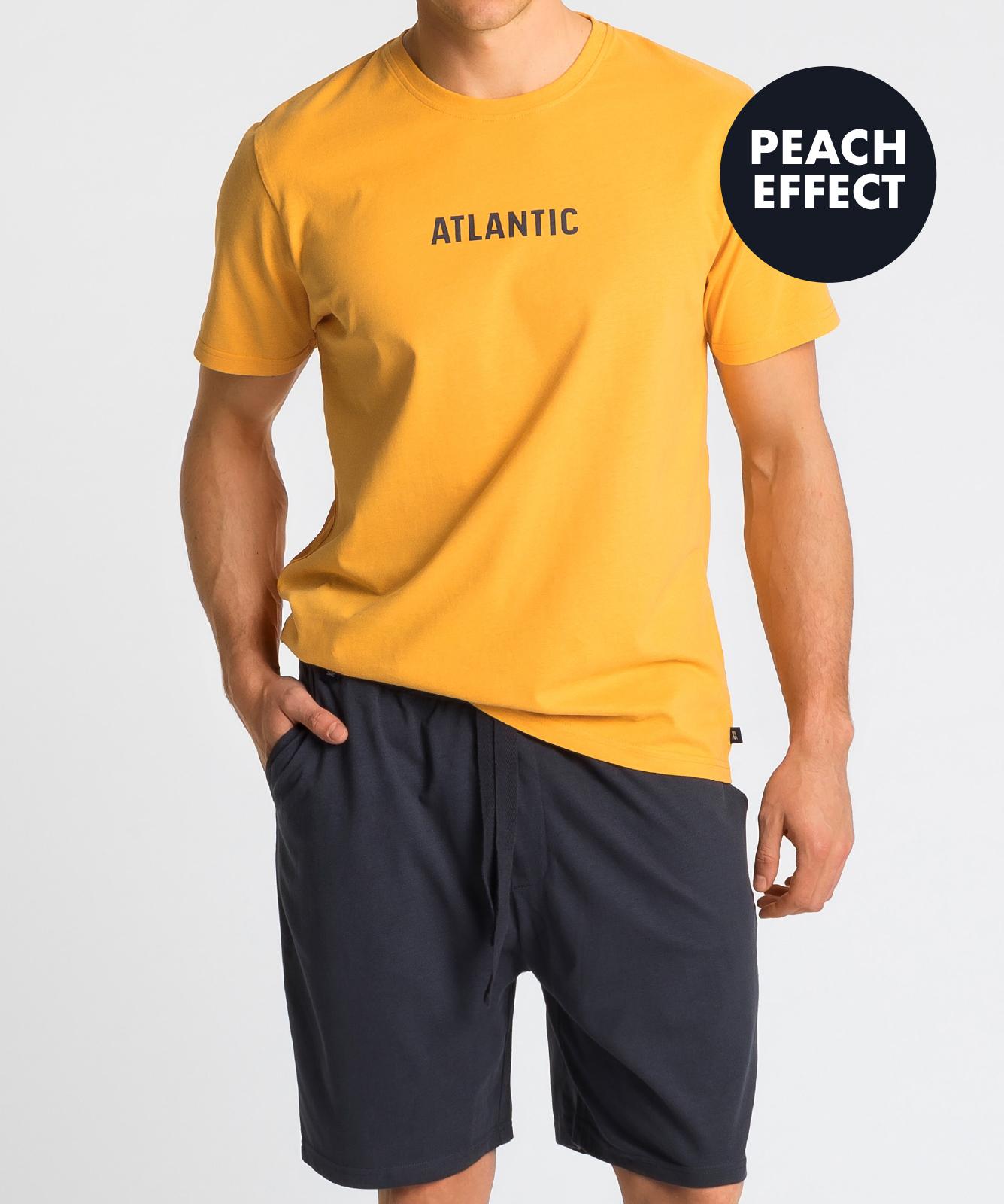 Мужская пижама Atlantic, 1 шт. в уп., хлопок, желтая, NMP-346
