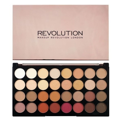 Набор из 32 оттенков теней Makeup Revolution 32 Eyeshadow Palette, Flawless 3 Resurrection