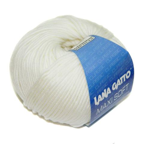 Купить Пряжа Lana Gatto Maxi Soft Код цвета 10001 | Интернет-магазин пряжи «Пряха»