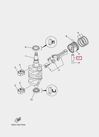 Палец поршневой для лодочного мотора F20 Sea-PRO (3-7)