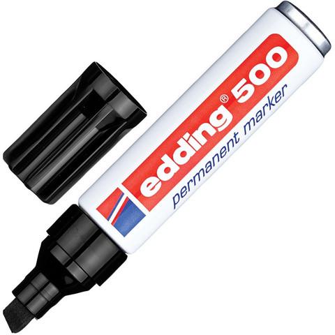 Маркер перманентный Edding E-500/1 черный (толщина линии 2-7 мм)