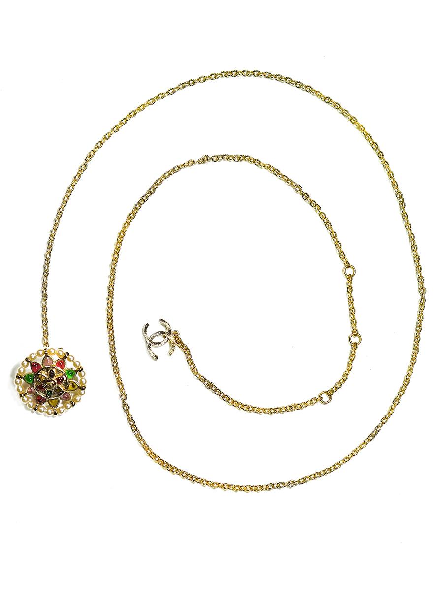 Пояс Chanel со стеклом Gripoix весенняя коллекция 2007 г.