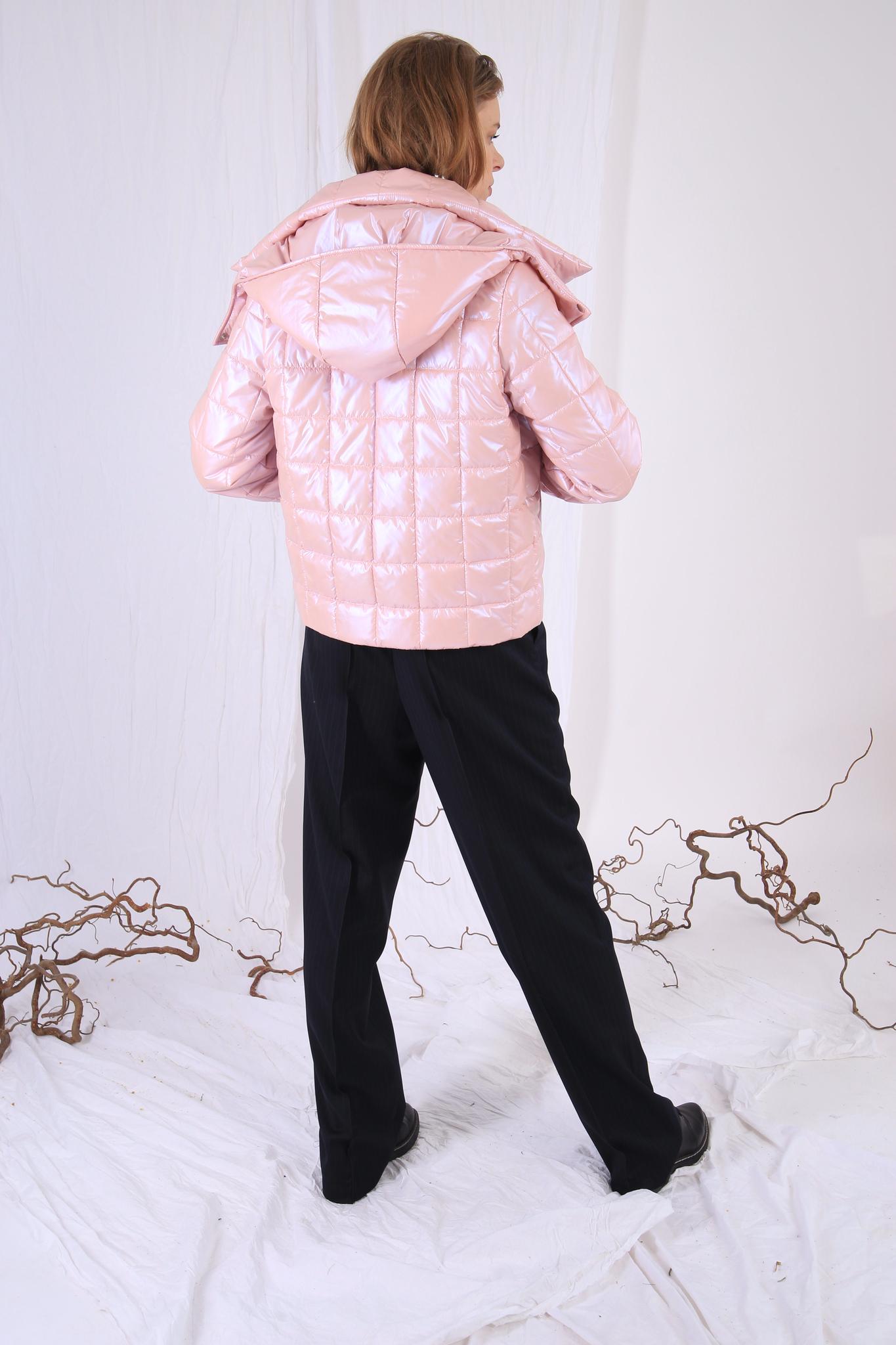 Куртка перламутровая, стёганая квадратами