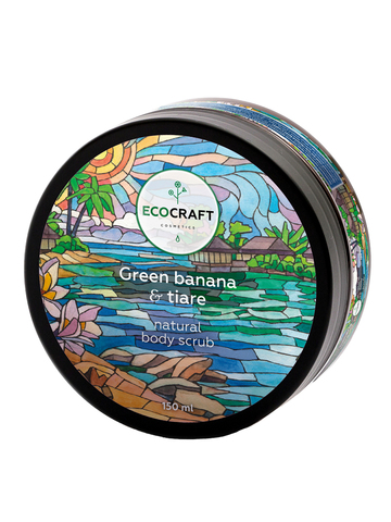 ECOCRAFT Скраб для тела Green banana and tiare Зеленый банан и тиаре (150 мл)