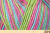 Пряжа Fibranatura Bamboo Jazz Multi 304 (Розовый,салат,бирюза)