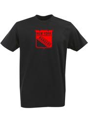 Футболка с однотонным принтом НХЛ Нью-Йорк Рейнджерс (NHL New York Rangers) черная 006