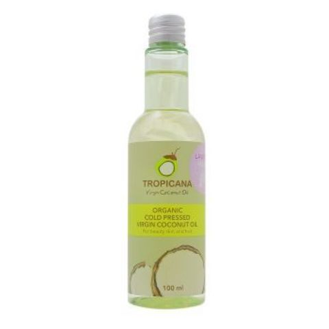 Кокосовое масло холодного отжима для кожи и волос TROPICANA Organic Cold Pressed Virgin Coconut Oil