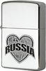 Зажигалка Zippo I love Russia