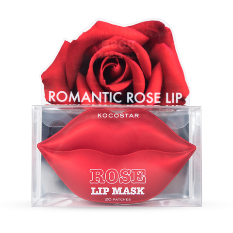 KOCOSTAR | Гидрогелевые патчи для губ( 20 патчей/применений) ( Роза) / Lip mask Rose, (50 г)