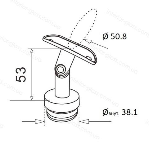 Верхний элемент стойки D=38,1 мм ST-423 с регулируемым ложементом