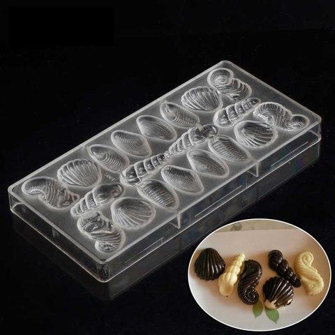 Поликарбонатная форма для шоколада  Морские Фигуры (ракушки) 20в1
